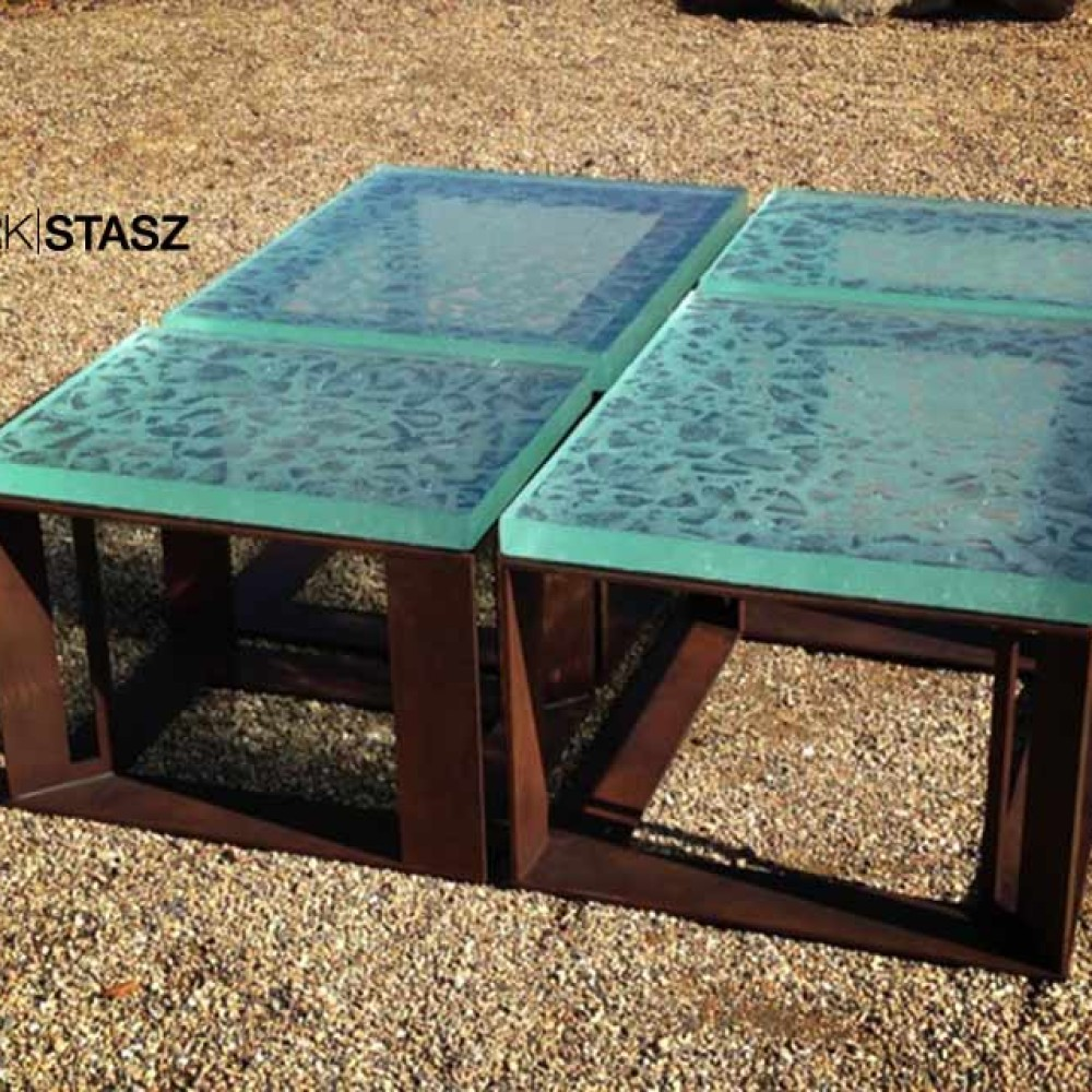 Glass and Iron Tables